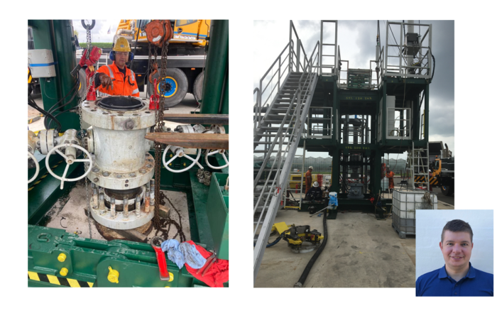 We are managing a well intervention in the Netherlands
